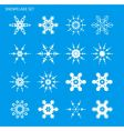 set with snowflakes vector image vector image