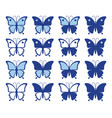 shapes beautiful butterflies vector image vector image