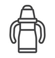 sippy cup line icon baby cup and bottle vector image vector image