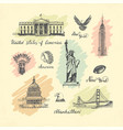 sketches of symbols of the usa vector image