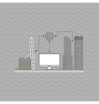 Smart city design editable graphic vector image