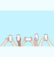smartphone screen online communication chatting vector image