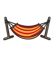 striped hammock for relax vector image