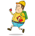 Student going to school vector image vector image