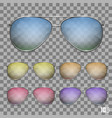 sunglasses color object vector image vector image