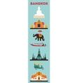 Symbols of Bangkok city vector image vector image