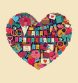 symbols of valentines day vector image vector image