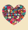 symbols valentines day vector image