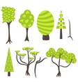 tree clip art nature set vector image