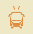 trolleybus icon in grunge style vector image