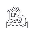 tsunami line icon concept tsunami linear vector image vector image