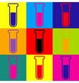 Tube icon Pop-art style icons set vector image vector image