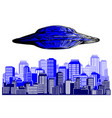 ufo alien flying with lights vector image vector image