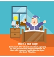 Waking up poster vector image vector image