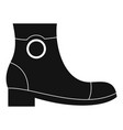 woman shoes icon simple vector image