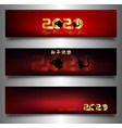 year rat set banners 2020 chinese new year vector image vector image