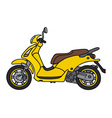 Yellow scooter vector image vector image