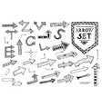 Hand drawn arrow icons set on white background vector image