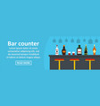 bar counter banner horizontal concept vector image