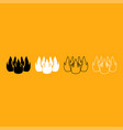 fire it is white icon vector image