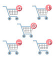 flat basket icon set vector image