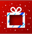 gift box in snow vector image