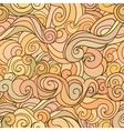 Seamless abstract hand drawn autumn pattern waves vector image