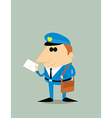 Cartoon postman vector image