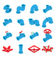 3d printing button icons set isometric style vector image vector image