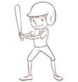 A baseball player vector image vector image