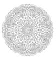 Abstract floral circular mandala vector image vector image