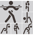 Aerobics icons set vector image