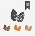 almond isolated icon vector image vector image