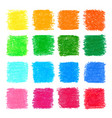 beautiful oil pastel square design elements vector image