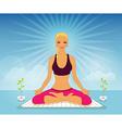 Beautiful woman doing yoga practice vector image