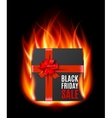 Black Friday Sale gifbox vector image vector image