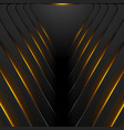 black hi-tech background with orange fiery light vector image vector image