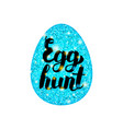 blue egg hunt greeting vector image
