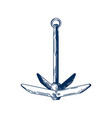 boat anchor holding ship in vector image