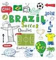Brazilian soccer vector image