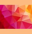 bright red pink orange triangular background vector image vector image