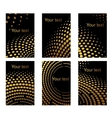 Business cards set with golden dots vector image