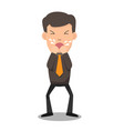 business man coughing he has sick and fever vector image vector image