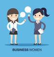 business women speaking vector image