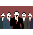 Businessmans wearing a various mask vector image vector image