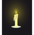 Candle on dark background vector image vector image