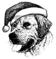 Christmas Labrador Retriever dog vector image vector image