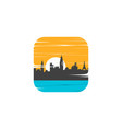 cityscape view sign symbol vector image vector image