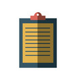 clipboard check business document report icon vector image