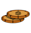 coins piled up vector image vector image